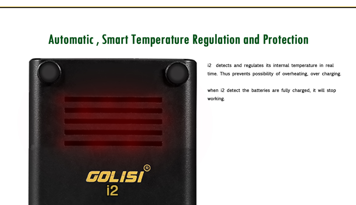 Golisi I2 2 Amp Smart USB Charger with LCD Screen